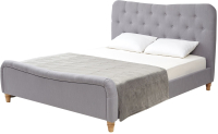 Двуспальная кровать Дамавер Sweet Jazmin 160x200 /JZMGR (ткань Grey 2) -
