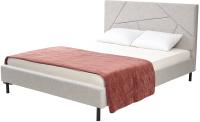 Двуспальная кровать Дамавер Sweet Valery 160x200 / VLRSTN (ткань Stone 1A) -