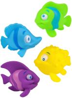 Набор игрушек для ванной РЫЖИЙ КОТ Забавные рыбки / 1779355 -
