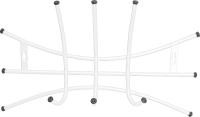 Вешалка для одежды Ника Премиум 2 / ВНП2 (белый) -