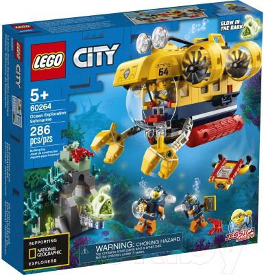 Конструктор Lego City Океан: исследовательская подводная лодка 60264