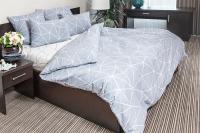 Комплект постельного белья Ночь нежна Грань Стандарт 2 сп. 50x70 / 7352-1+7353-2 (серый) -