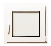 Окно ПВХ Добрае акенца Поворотно-откидное 2 стекла (600x600) -