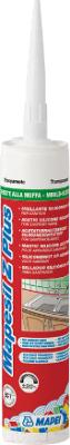 Герметик силиконовый Mapei Mapesil Z Plus (280мл, светло-серый)