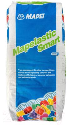 Гидроизоляция цементная Mapei Mapelastic Smart A Sacchi (20кг)