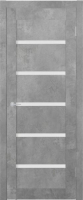 Дверь межкомнатная Юркас ST8 ДО 80x200 (бетон светлый) -