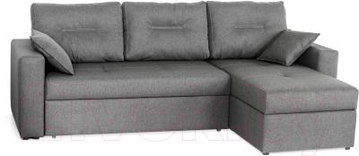 Диван угловой Мебель-Парк Торонто 1 Evolution 16 Grey рогожка