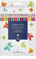Набор цветных карандашей Bruno Visconti Happycolor / 30-0052 (18цв) -