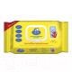 Влажные салфетки детские Папа Мама Антибактериальные с клапаном (72шт) -