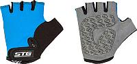 Перчатки велосипедные STG Х87905-С (S, синий) -