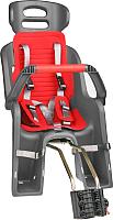 Детское велокресло SunnyWheel SW-BC-137 / Х90119 (серый/красный) -