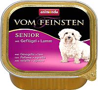 Корм для собак Animonda Vom Feinsten Senior с мясом домашней птицы и ягненком (150г) -