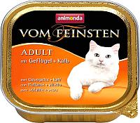 Корм для кошек Animonda Vom Feinsten Classic Adult с домашней птицей и телятиной  (100г) -
