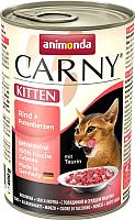 Корм для кошек Animonda Carny Kitten с говядиной и сердцем индейки (400г) -