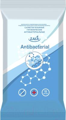 Влажные салфетки ZALA Joy гигиенические антибактериальные (15шт)
