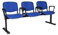 Секция стульев UTFC Изо + 3 BL (С06/синий) -