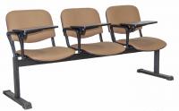 Секция стульев UTFC Изо 3 BL со столиком (С39/бежевый) -