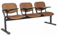 Секция стульев UTFC Изо 3 BL со столиком (Z38/светло-коричневый) -