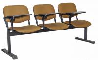 Секция стульев UTFC Изо 3 BL со столиком (S-0426/светло-коричневый) -