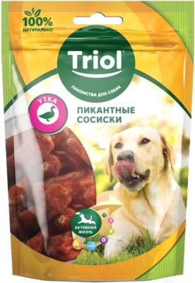 Лакомство для собак, 2 шт. Triol Пикантные сосиски из утки / 10171007