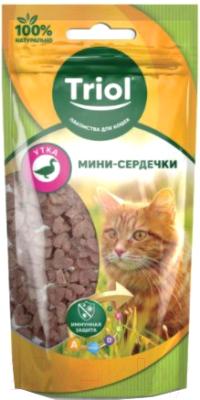 Лакомство для кошек, 2 шт. Triol Мини-сердечки из утки / 20171023