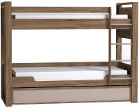 Двухъярусная кровать Глазов Nature 90 (дуб табачный Craft/мокко) -