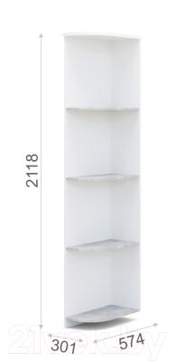 Угловое окончание для шкафа Империал Аврора угловой (белый/ателье светлый)