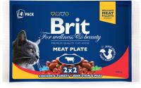 Корм для кошек Brit Premium Cat Meat Plate / 100312 (4x100г) -