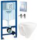 Унитаз подвесной с инсталляцией Sanita Luxe Attica SL D ATCSLWH0102 + 38772001 -
