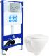 Унитаз подвесной с инсталляцией Sanita Luxe Attica SL D ATCSLWH0102 + INS-0000006 -
