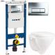 Унитаз подвесной с инсталляцией Sanita Luxe Attica SL D ATCSLWH0102 + 458.125.21.1 -
