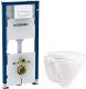 Унитаз подвесной с инсталляцией Sanita Luxe Attica SL D ATCSLWH0102 + 458.128.11.1 -