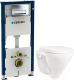 Унитаз подвесной с инсталляцией Sanita Luxe Attica SL D ATCSLWH0102 + 458.128.21.1 -
