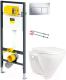 Унитаз подвесной с инсталляцией Sanita Luxe Attica SL D ATCSLWH0102 + 792824 -