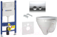 Унитаз подвесной с инсталляцией Sanita Luxe Attica SL D ATCSLWH0102 + 458.126.00.1 + 115.125.21.1 -