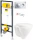 Унитаз подвесной с инсталляцией Sanita Luxe Attica SL D ATCSLWH0102 + 792855 -