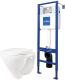 Унитаз подвесной с инсталляцией Sanita Luxe Attica SL D ATCSLWH0102 + S-IN-MZ-VECTOR -