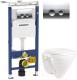 Унитаз подвесной с инсталляцией Sanita Luxe Attica SL D ATCSLWH0102 + 458.122.21.1 -