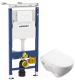 Унитаз подвесной с инсталляцией Sanita Luxe Attica SL D ATCSLWH0102 + 458.122.11.1 -