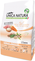 Корм для кошек Gheda Petfood Unica Natura Indoor курица, рис, морковь (1.5кг) -
