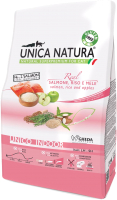 Корм для кошек Gheda Petfood Unica Natura Indoor лосось, рис, яблоко (1.5кг) -