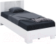 Односпальная кровать Империал Аврора 90 (белый/ателье светлый) -