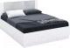 Двуспальная кровать Империал Аврора 160 с подъемным механизмом (белый/ателье светлый) -