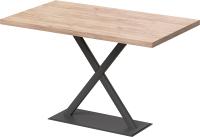 Обеденный стол Millwood Лофт Харлей Л 130x80x75 (дуб табачный Craft/металл черный) -