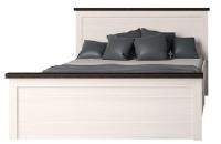 Двуспальная кровать Интерлиния Тауэр ТР-К160 (вудлайн кремовый/дуб венге) -