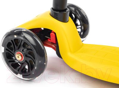 Самокат Sundays KB-02D-4 (желтый, светящиеся колеса)