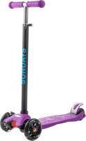 Самокат Sundays KB-02D-5 (фиолетовый, светящиеся колеса) -
