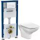 Унитаз подвесной с инсталляцией Cersanit Carina New Clean On S-MZ-CARINA-COn-S-DL-w + 458.128.11.1 -