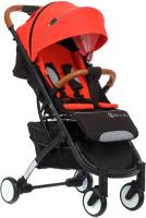 Детская прогулочная коляска Babyzz D200 (красный, черная рама) -