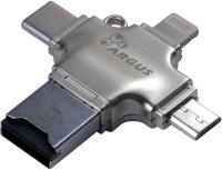 Картридер Inter-Tech Argus R-010 (Type-C/USB2.0/Micro-USB/Lightning) -
